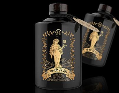 红花籽油 产品包装 Safflower seed oil product packaging