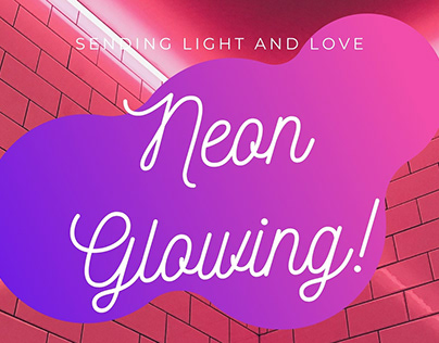 Neon Glowing BANNER Design