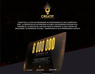 Creativ Talent UI Design