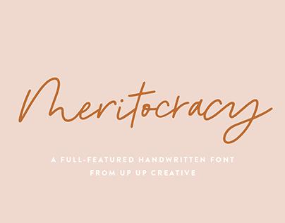 Meritocracy, a Full-Featured Handwritten Font