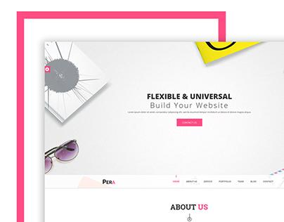 Pera - HTML5 Responsive Agency Template