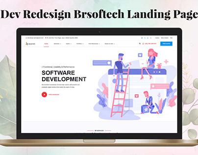 Dev Redesign Brsoftech Landing Page UI Free Download