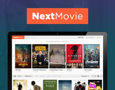 NextMovie concept website