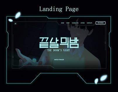 Game website for portfolio