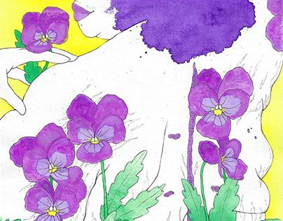 Winter Flower: Viola