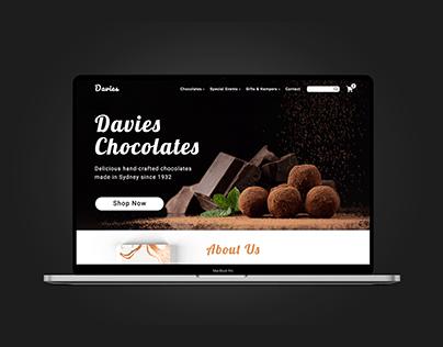 Davies Chocolates Website Design