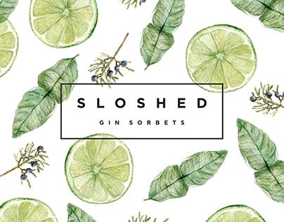 Sloshed - Gin Sorbet Branding