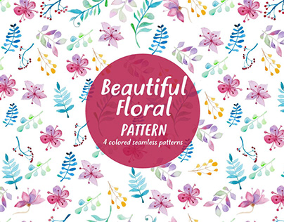 Free Pattern Beautiful Floral Watercolor
