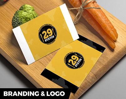 29 States Indian Restaurant Logo Design