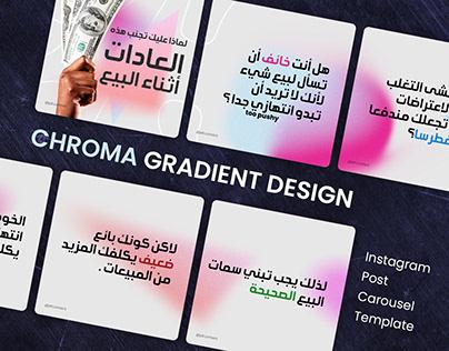 Instagram Posts Carrousel Chroma gradient Design