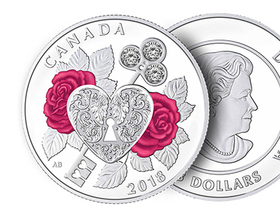 "2018 $3 Royal Canadian Mint Coin ""Celebration of Love"""