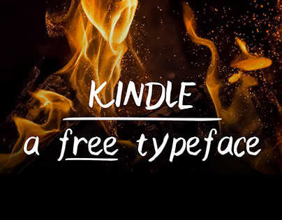 Kindle - A free handwritten typeface