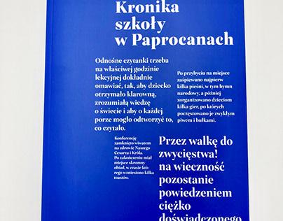 Kronika szkoły w Paprocanach