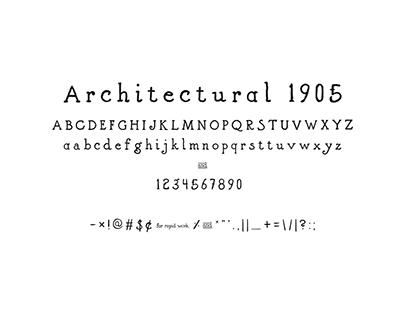 Architectural 1905 Vintage Typeface