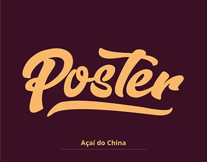 Poster - Açaí do China