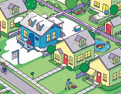 A thriving housing community