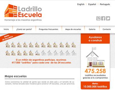 "Web design | ""Un ladrillo para mi escuela"" Project"