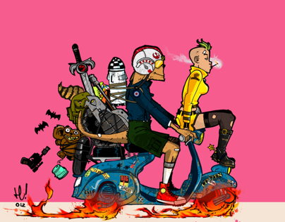 TANK GIRL X ROMAN HOLIDAY