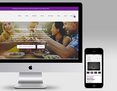 Vinscovery E-Commerce Website Design
