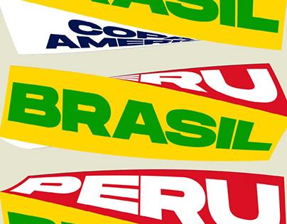 Poster Kinetico Brasil - Perú Copa América Semis