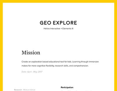 Geo Explore VR