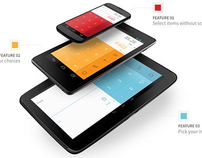 App & Web Design: Flib - A converter with memory