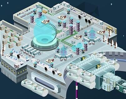 Game Art - eStation.io - Web Space Station