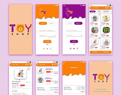 toy shop mobile app (UI Design)
