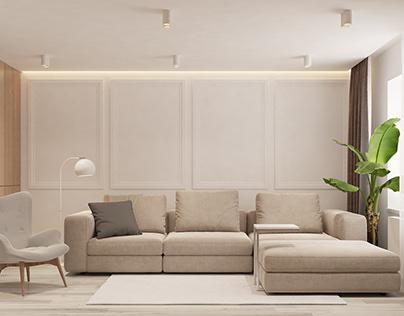 PUREWHITE Living room + hallway