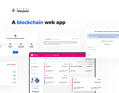 Bright Treasury - a blockchain web app