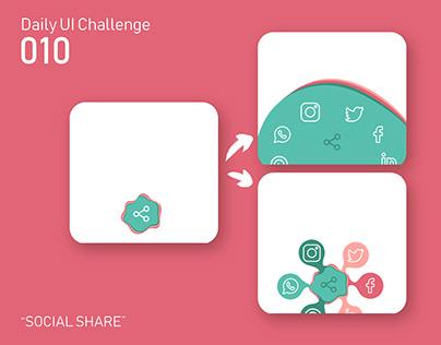 Daily UI 010 - Social Share Button