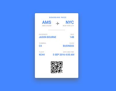 Minimal boarding pass