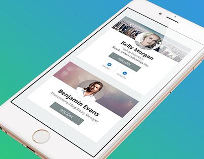 Profile Cards - UI Exploration