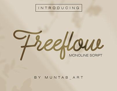 Freeflow Monoline Font