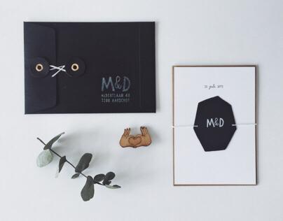 WEDDING INVITATION — maaike+dries