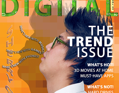 Digital Magazine Cover School Project