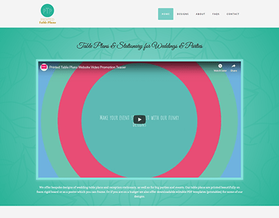 Weddings and Events Table Plan Website Development