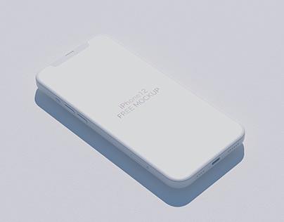 Free iPhone 12 Free Mockup diagonally