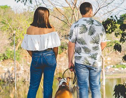 Sesión de fotografía canina con Maya y su familia