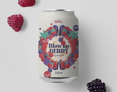 Kombucha. Blow up Berry