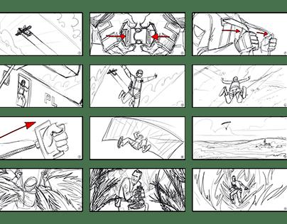Concept storyboards for Wielkopolska campain