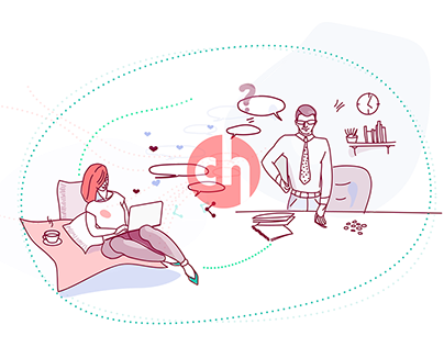 Crowdholding.com landing page illustrations