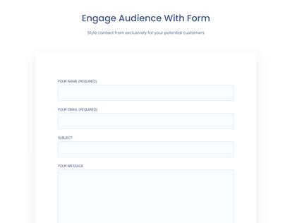 Audience Contact Form Design 1