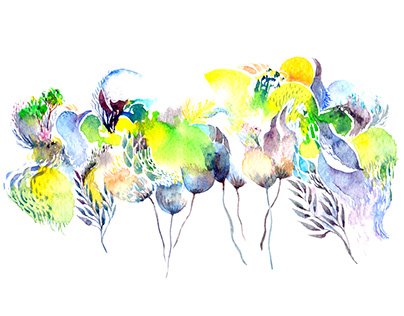 Watercolor - Flowers and Birds