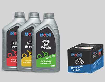 Product lineup re-design   Mobil engine oil