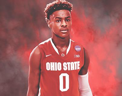 Bronny Jr. Ohio State Recruitment Graphics