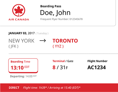 Universal Boarding Pass (Concept)