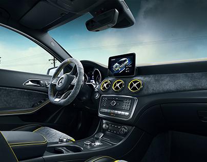 Mecedes Benz A45 Interior CGI