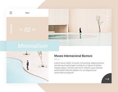 Minimalism - Museo Internacional Barroco - Landing Page