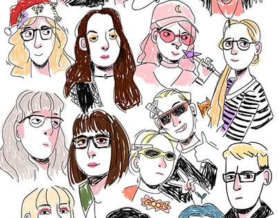 People/Series of quick illustrations